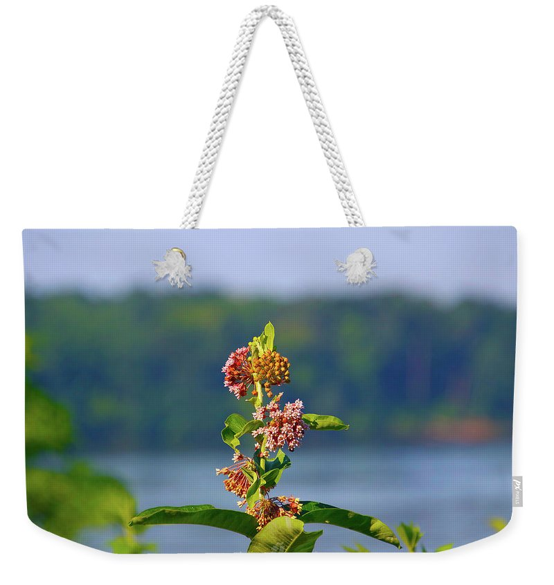 Weekender Tote Bag featuring the photograph Wild Growth by Tony Umana