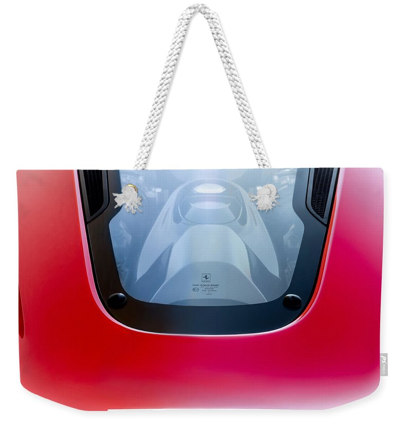 Red Weekender Tote Bag featuring the photograph Wild Horses Under Glass by Douglas Pittman