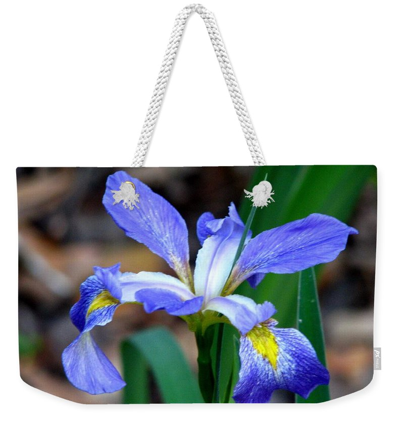 Iris Weekender Tote Bag featuring the photograph Wild Iris 3 by J M Farris Photography
