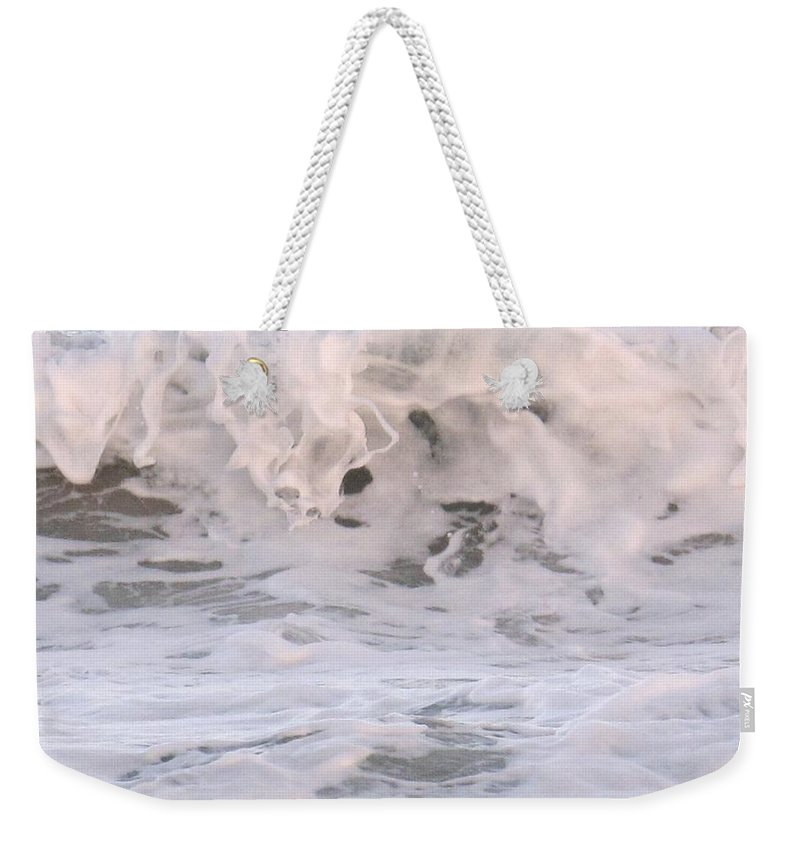 Surf Weekender Tote Bag featuring the photograph Wild Surf by Ian MacDonald