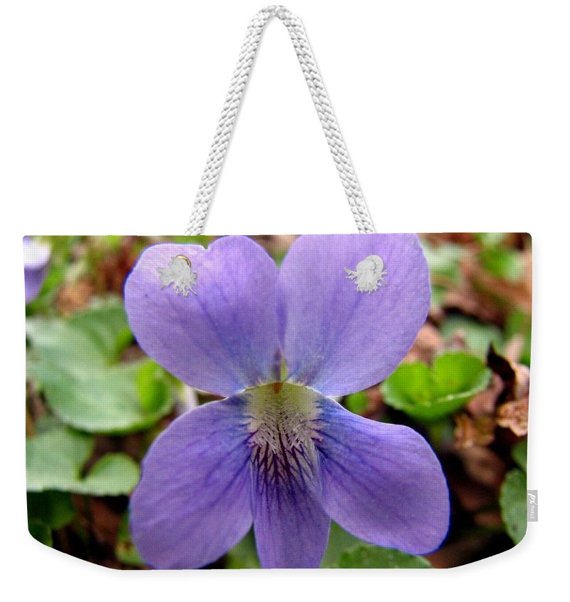 Violet Weekender Tote Bag featuring the photograph Wild Violet 2 by J M Farris Photography