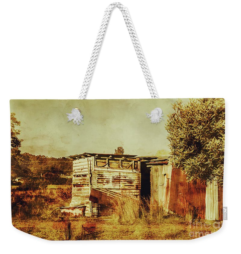 Australia Weekender Tote Bag featuring the photograph Wild West Australian Barn by Jorgo Photography - Wall Art Gallery