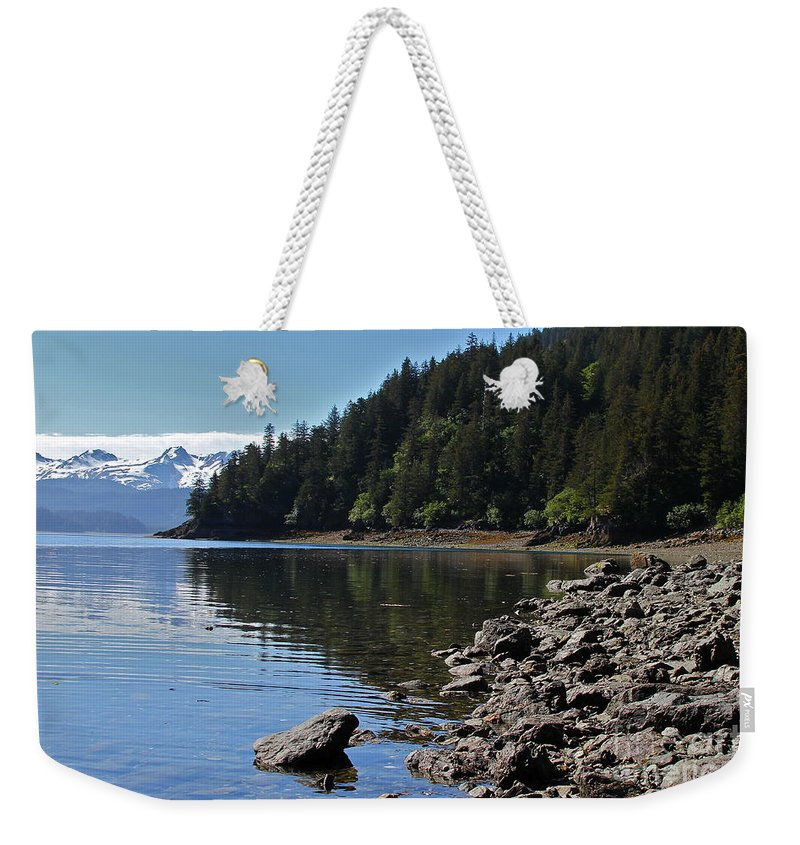 Shore Weekender Tote Bag featuring the photograph Wilderness Cove by Rick Monyahan
