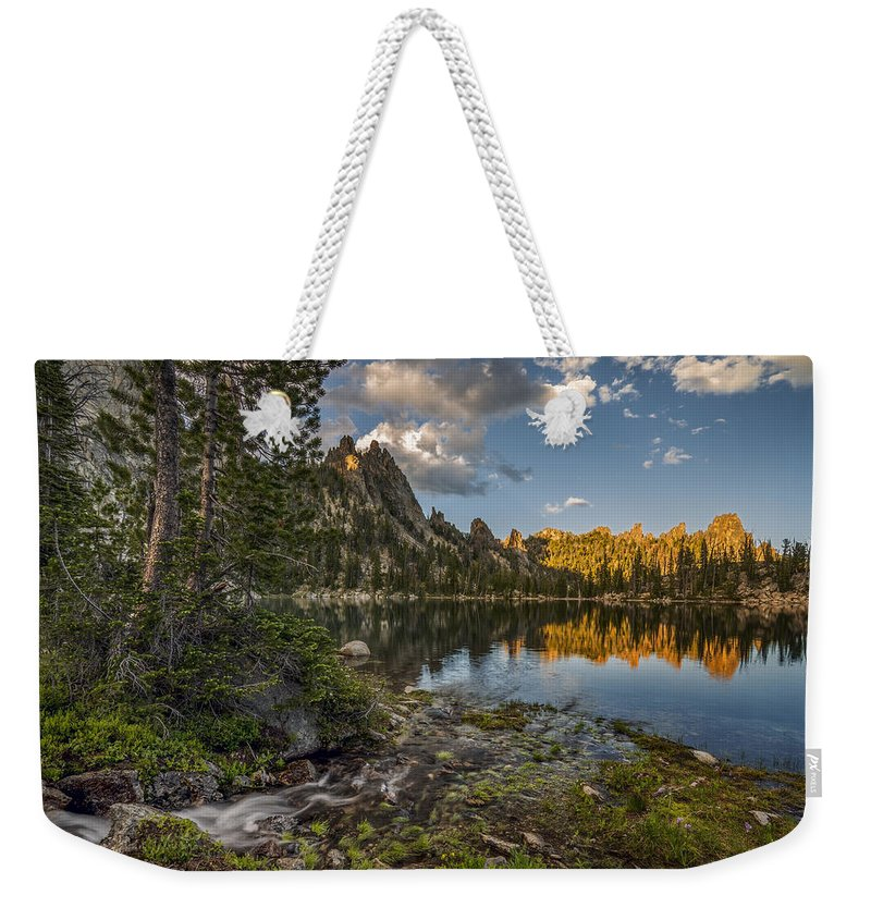 Idaho Scenics Weekender Tote Bag featuring the photograph Wilderness Lake by Leland D Howard