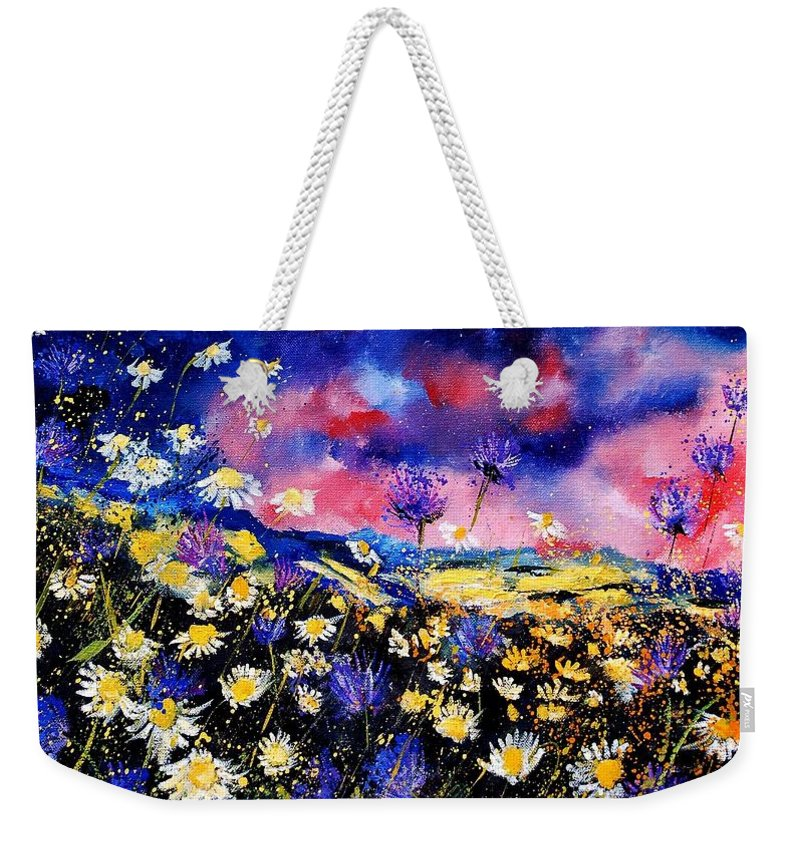 Flowers Weekender Tote Bag featuring the painting Wildflowers 67 by Pol Ledent
