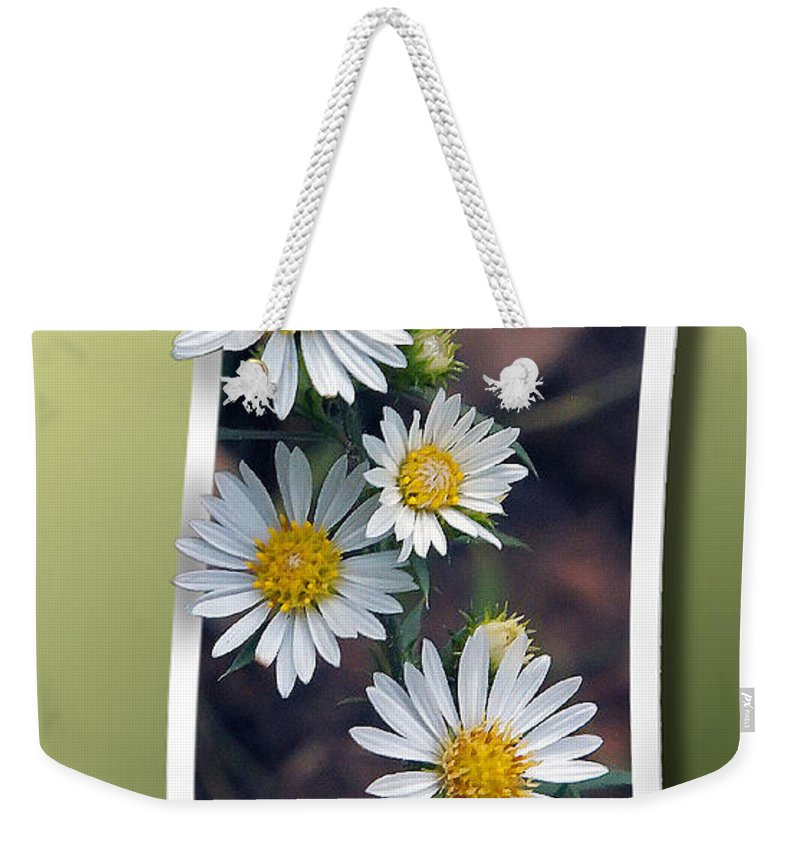 2d Weekender Tote Bag featuring the photograph Wildflowers And Visitor by Brian Wallace