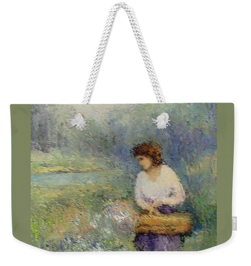 Woman Weekender Tote Bag featuring the painting Wildflowers by Gail Kirtz