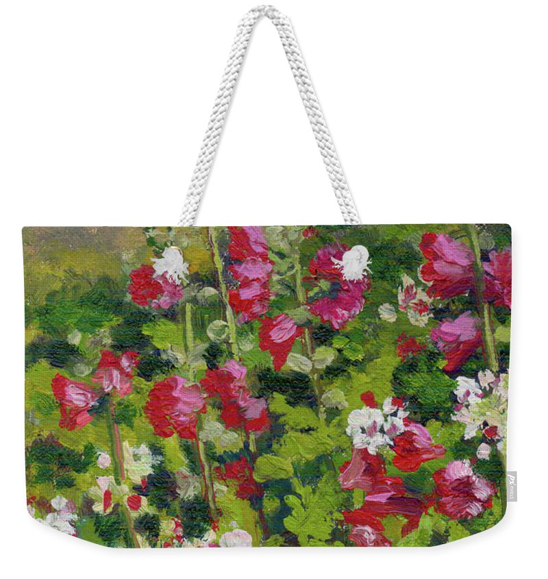 Impressionism Weekender Tote Bag featuring the painting Wildflowers by Keith Burgess
