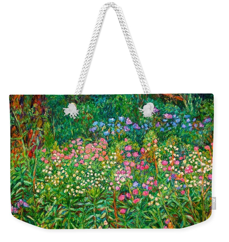 Floral Weekender Tote Bag featuring the painting Wildflowers Near Fancy Gap by Kendall Kessler