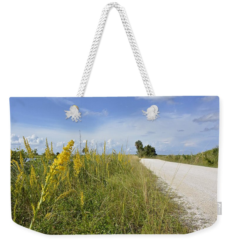 Drive Weekender Tote Bag featuring the photograph Wildlife Drive by Carol Bradley