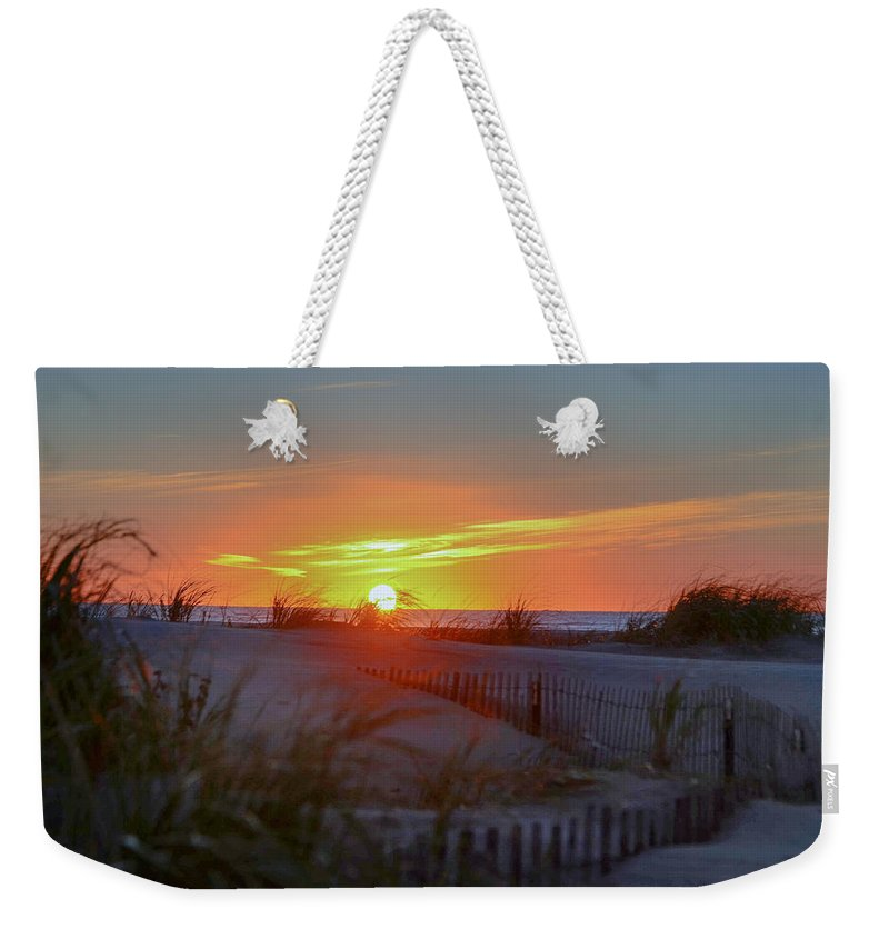 Wildwood Weekender Tote Bag featuring the photograph Wildwood Summers by Bill Cannon