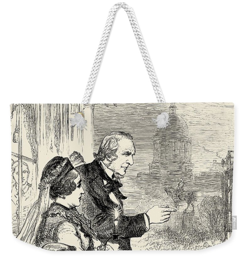 1880 Weekender Tote Bag featuring the photograph Willam Ewart Gladstone by Granger