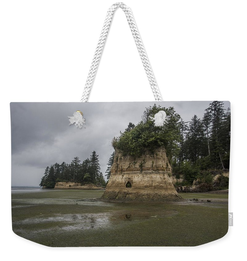 Bay Center Weekender Tote Bag featuring the photograph Willapa Bay Shoreline by Robert Potts