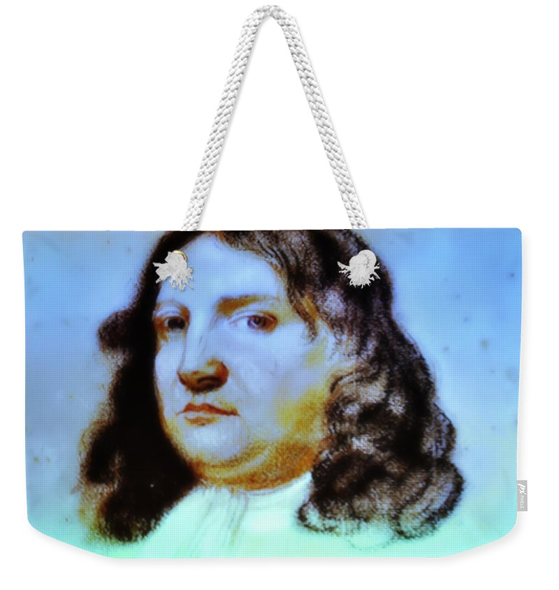 William Penn Weekender Tote Bag featuring the photograph William Penn Portrait by Bill Cannon