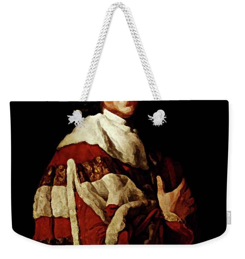 William Pitt Weekender Tote Bag featuring the photograph William Pitt by Diana Angstadt