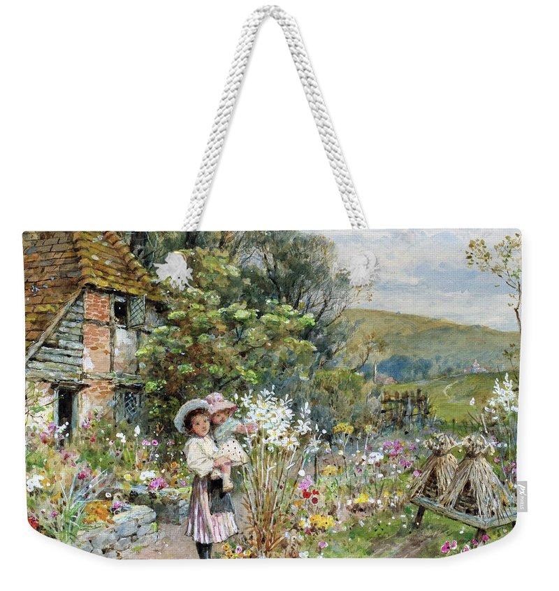 William Stephen Coleman - Untitled 1897 Weekender Tote Bag featuring the painting William Stephen Coleman by MotionAge Designs
