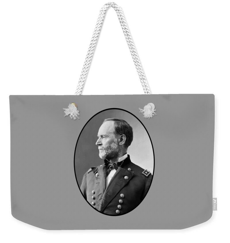 Civil War Weekender Tote Bag featuring the painting William Tecumseh Sherman by War Is Hell Store