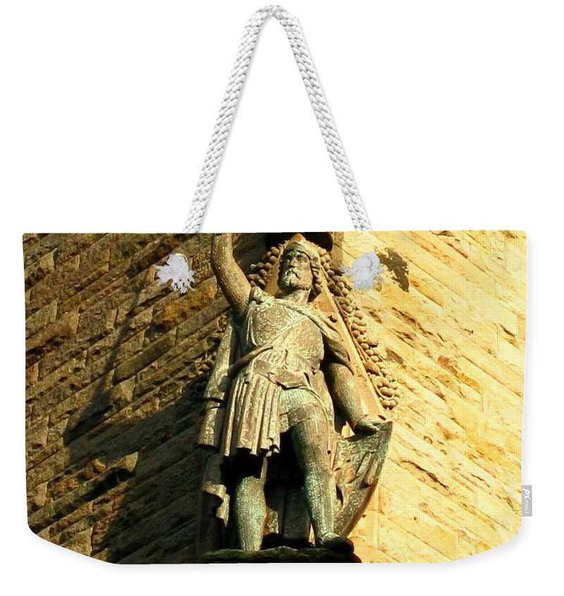 William Wallace Weekender Tote Bag featuring the photograph William Wallace by Maria Joy