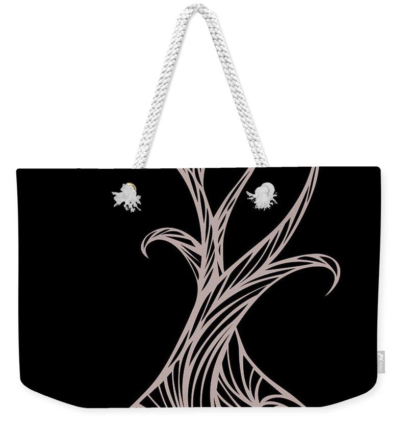 Weekender Tote Bag featuring the digital art Willow Curve by Jamie Lynn