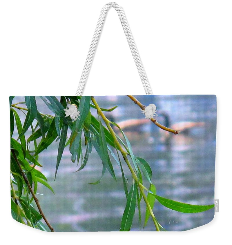 Canada Weekender Tote Bag featuring the photograph Willow Over The Water by Ian MacDonald