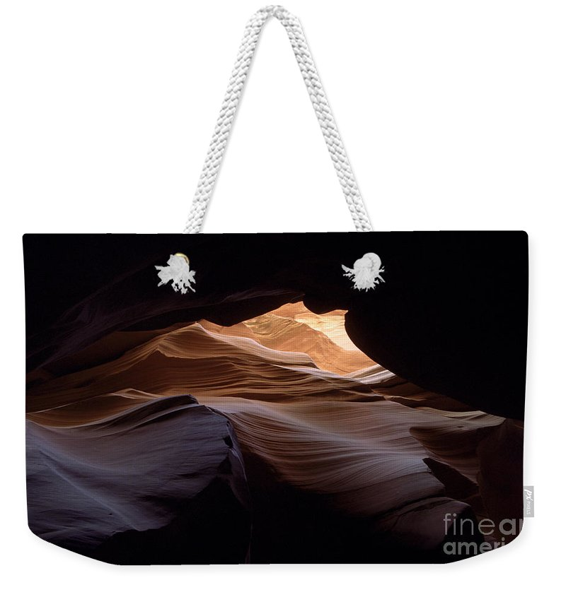 Antelope Canyon Weekender Tote Bag featuring the photograph Wind And Water by Kathy McClure