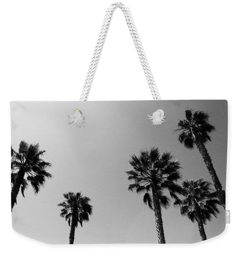 Palm Trees Weekender Tote Bag featuring the photograph Wind In The Palms- by Linda Woods by Linda Woods