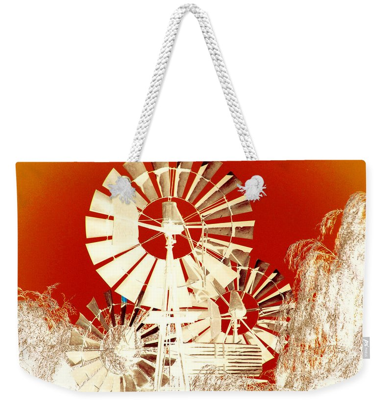 Landscapes Weekender Tote Bag featuring the photograph Wind In The Willows by Holly Kempe