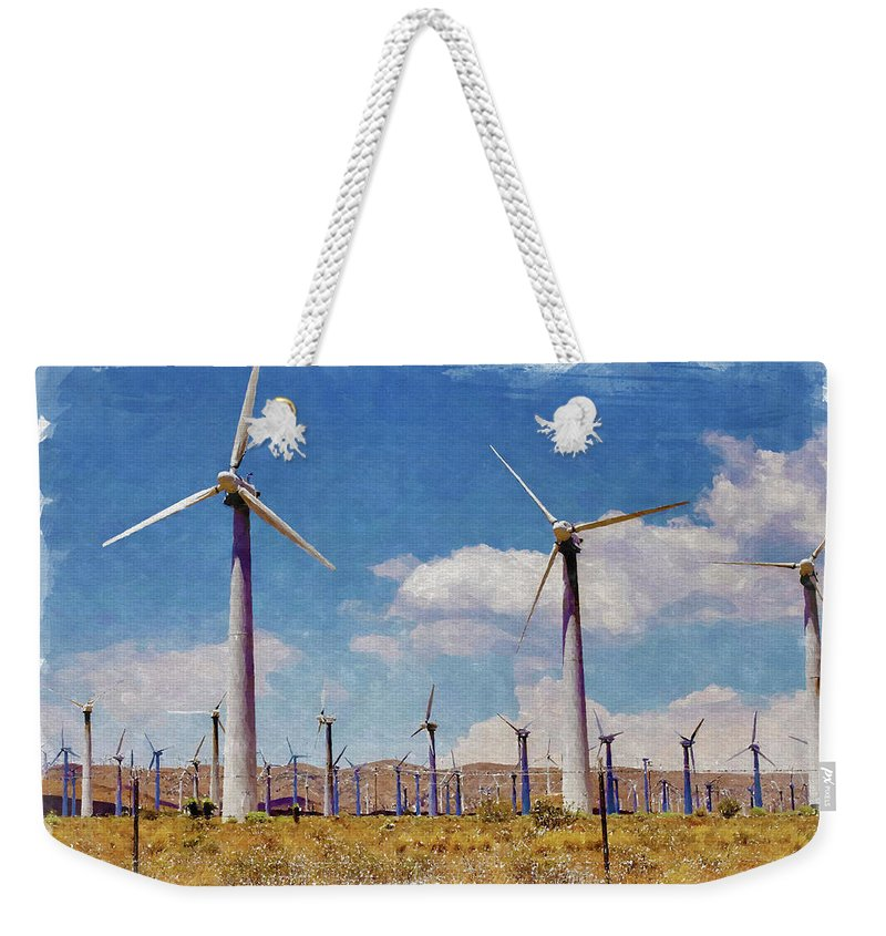 Wind Weekender Tote Bag featuring the photograph Wind Power by Ricky Barnard