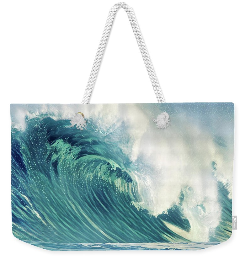 Waves Weekender Tote Bag featuring the painting Wind Waves by Russ Harris