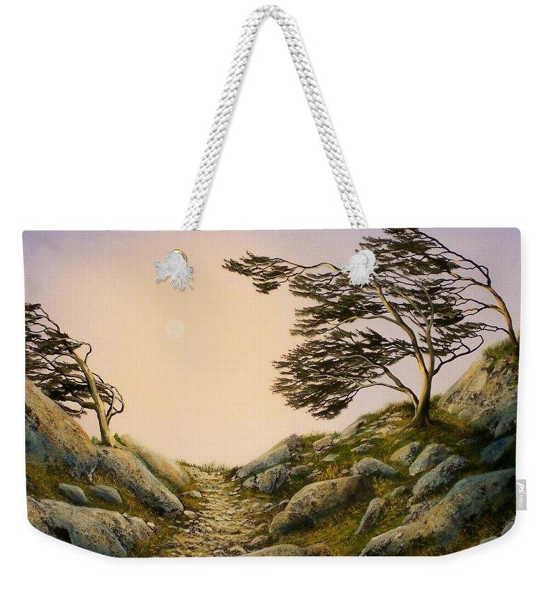 Windblown Warriors Weekender Tote Bag featuring the painting Windblown Warriors by Frank Wilson