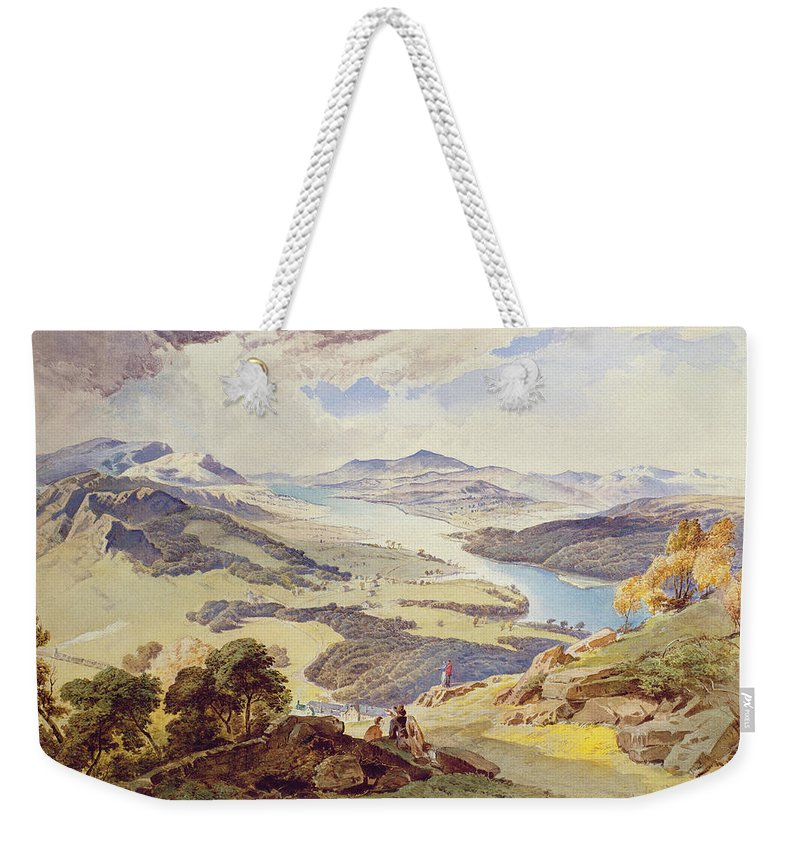 Windermere Weekender Tote Bag featuring the painting Windermere From Ormot Head by William Turner