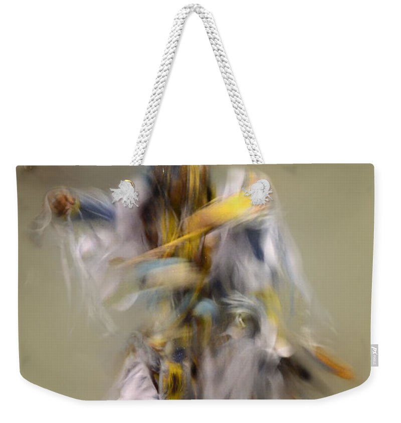 Pow Wow Weekender Tote Bag featuring the photograph Pow Wow Windigo 2 by Bob Christopher