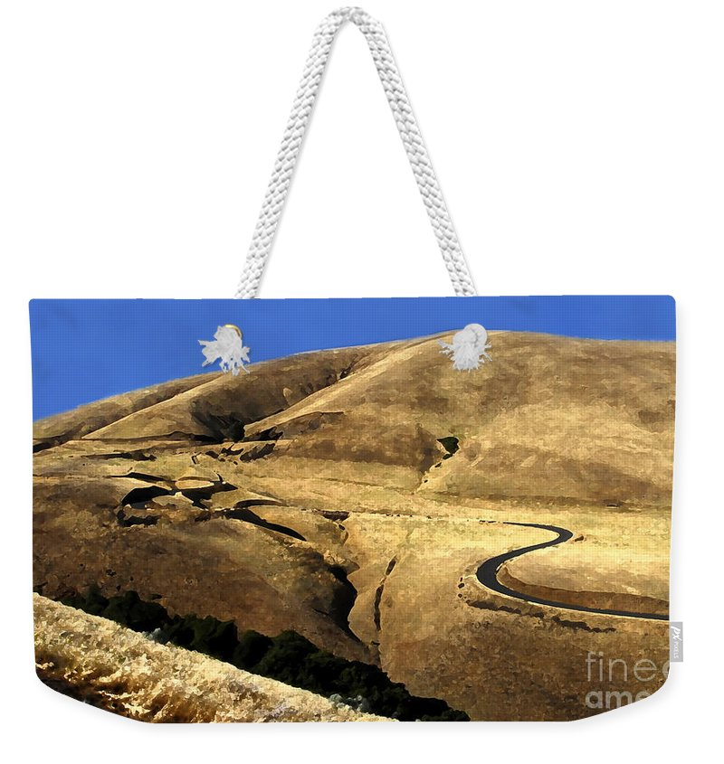 Road Weekender Tote Bag featuring the photograph Winding Road by David Lee Thompson