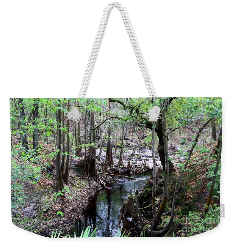 Sopchoppy River Weekender Tote Bag featuring the photograph Winding Sopchoppy River by Barbara Bowen