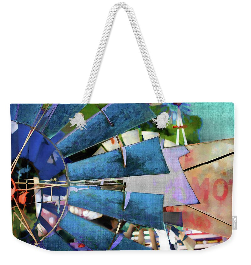 Windmill Weekender Tote Bag featuring the digital art Windmill 3 by Terry Davis