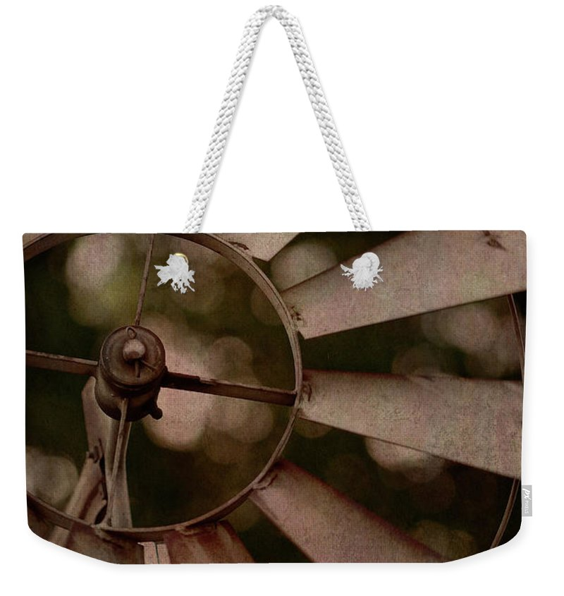 Photography Weekender Tote Bag featuring the digital art Windmill At Dusk by Terry Davis