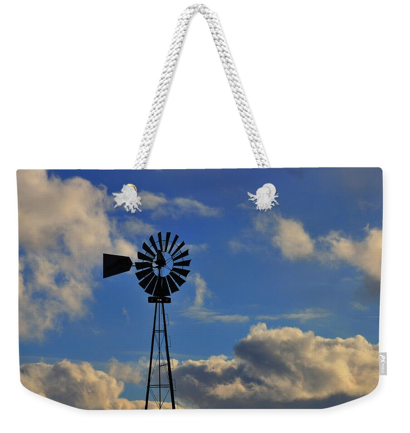 Windmill Weekender Tote Bag featuring the photograph Windmill by David Arment
