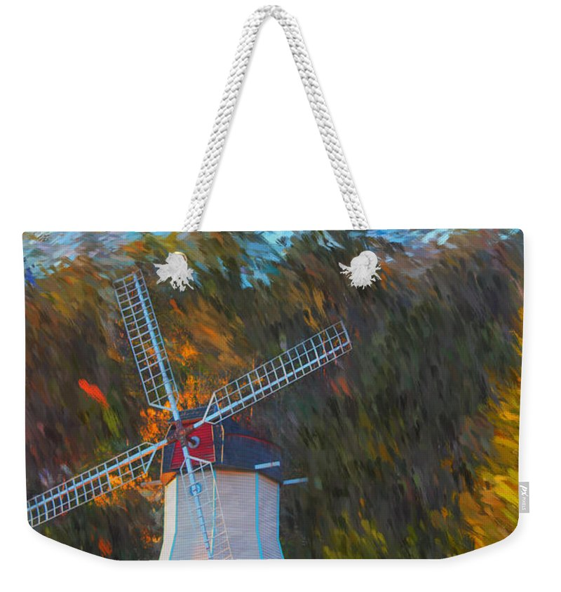 Windmill Weekender Tote Bag featuring the photograph Windmill Series 1102 by Carlos Diaz