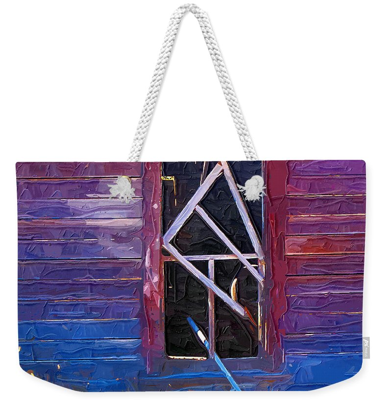 Window Weekender Tote Bag featuring the photograph Window-1 by Susan Kinney