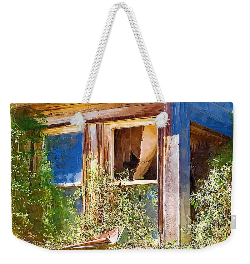 Window Weekender Tote Bag featuring the photograph Window 2 by Susan Kinney