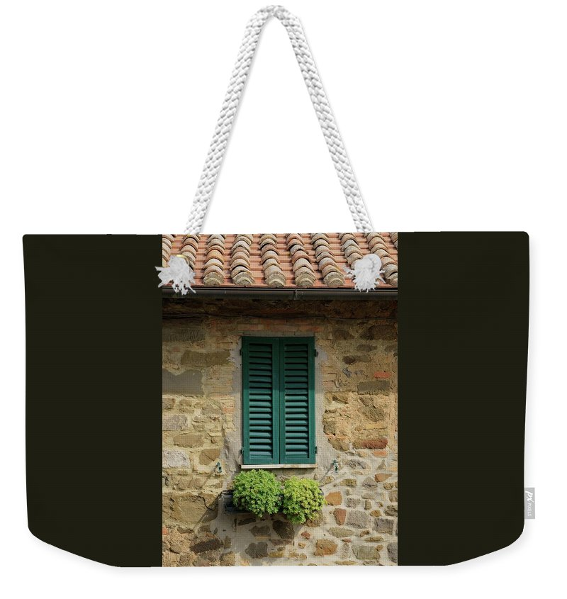 Europe Weekender Tote Bag featuring the photograph Window #3 - Cinque Terre Italy by Jim Benest