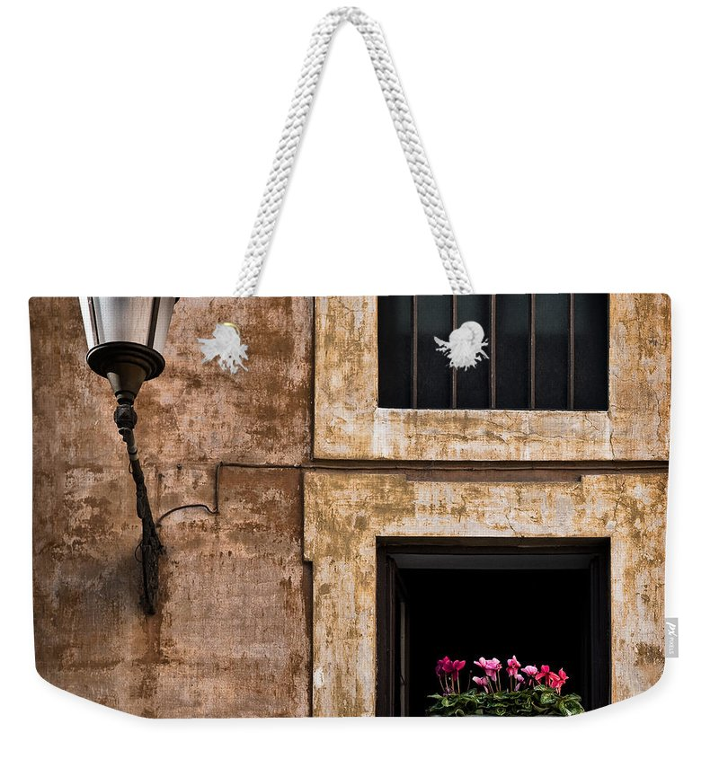 Window Box Weekender Tote Bag featuring the photograph Window Box by Dave Bowman