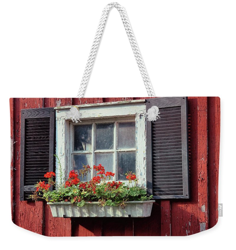 Bale Weekender Tote Bag featuring the photograph Window Box by Dressage Design