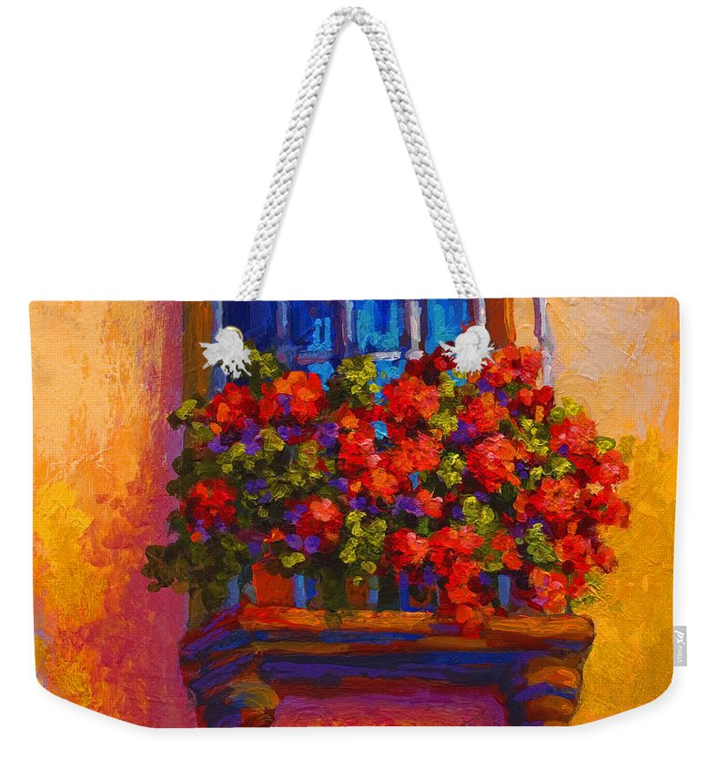 Poppies Weekender Tote Bag featuring the painting Window Box by Marion Rose