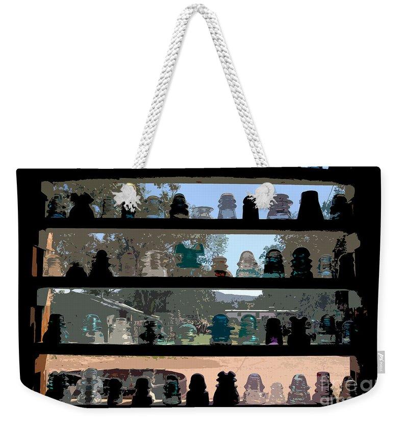 Window Display Weekender Tote Bag featuring the painting Window Display by David Lee Thompson