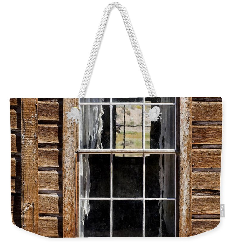 Wood Texture Weekender Tote Bag featuring the photograph Window In A Window by Kelley King