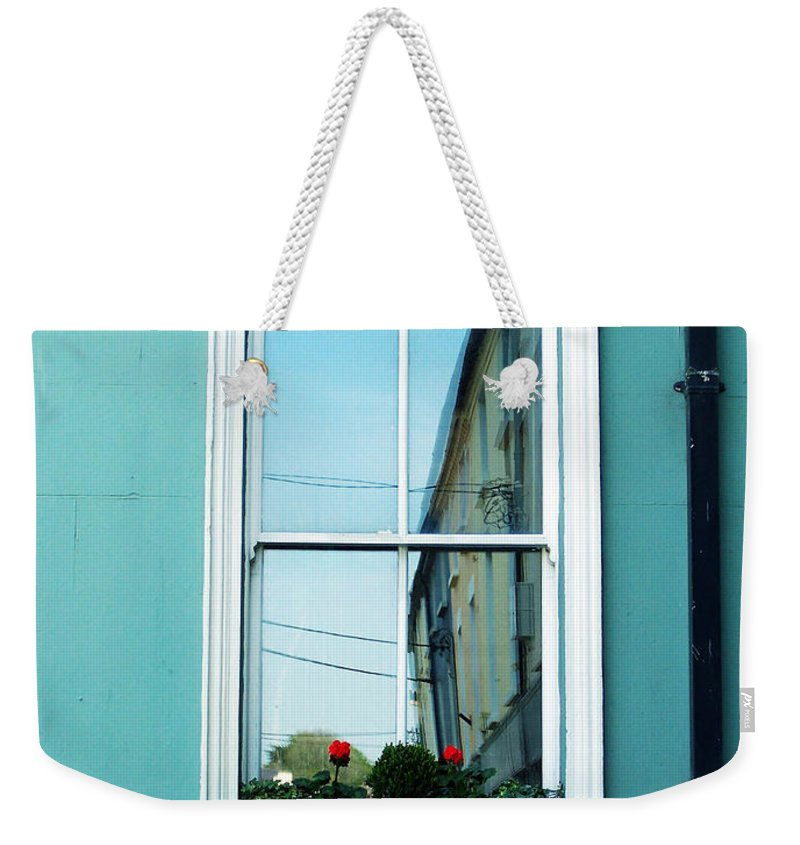 Irish Weekender Tote Bag featuring the photograph Window In Ennistymon Ireland by Teresa Mucha