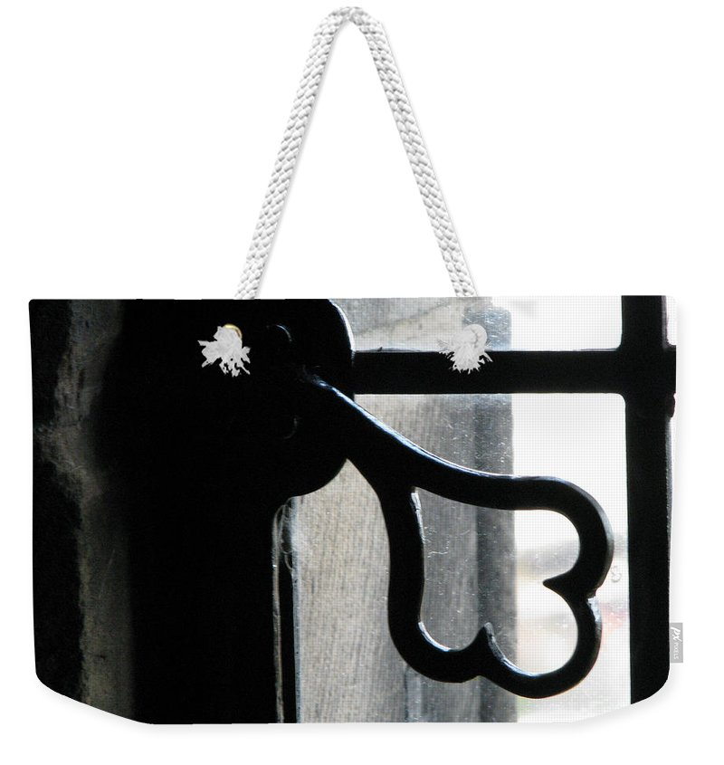 Edinburgh Weekender Tote Bag featuring the photograph Window Latch by Amanda Barcon