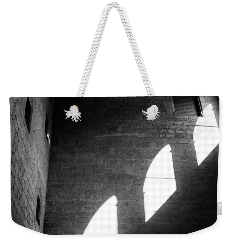 Black And White Weekender Tote Bag featuring the photograph Window Light by Pati Photography