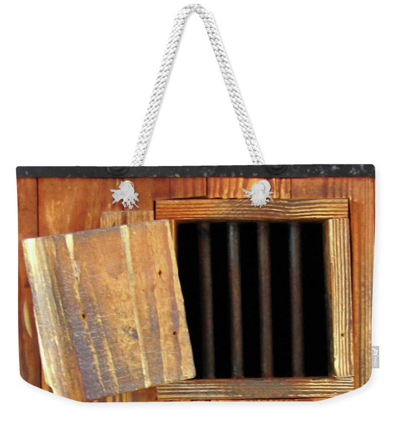 Window Weekender Tote Bag featuring the photograph Window Of Darkness by Peg Urban